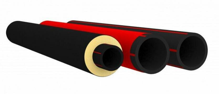Напорная труба из PE-RT тип II неизолированные с защитным покрытием PROSAFE® SDR 7,4 160